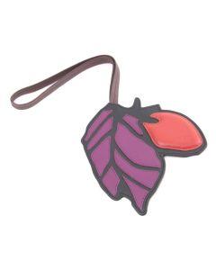 """BREE Oviedo 643 - Taschenanhänger """"Blatt"""" in black / wineberry"""