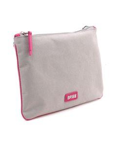 BREE Limoges 6 - Clutch in light grey / pink