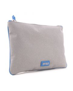 BREE Limoges 6 - Clutch in light grey / pacific blue
