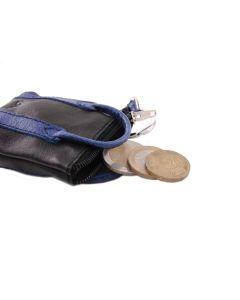 bylin mini-shopper - Schlüsseltasche in schwarz / cobalt