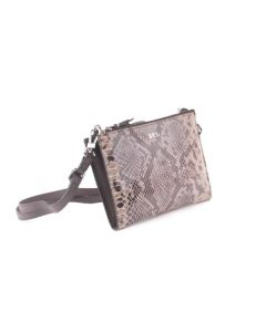 BREE Beverly Hills 15 - Clutch in taupe / brown snake